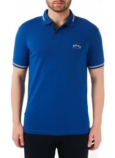 Hugo Boss  Pamuklu Slim Fit Polo T Shirt Erkek Polo 50412675 439 Mavi